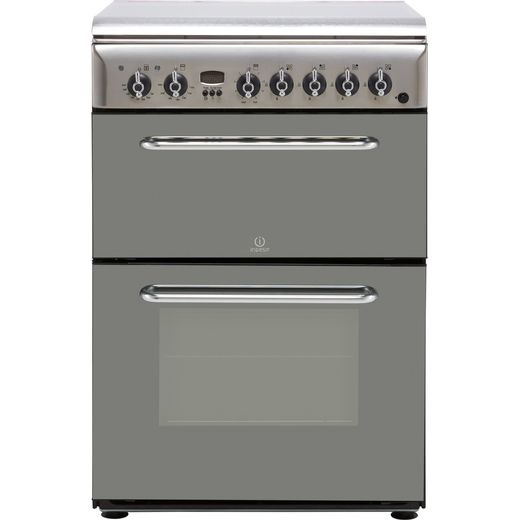 Indesit KDP60SES 60cm Dual Fuel Cooker - Stainless Steel - B/B Rated