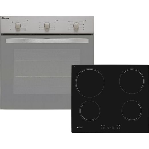 Candy COEHP60X/E Built In Electric Single Oven and Ceramic Hob Pack - Stainless Steel - A Rated