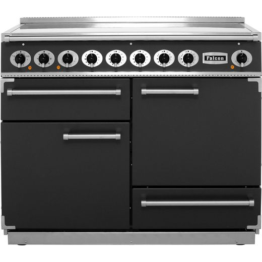 Falcon 1092 DELUXE F1092DXEISL/N 110cm Electric Range Cooker with Induction Hob - Slate - A/A Rated