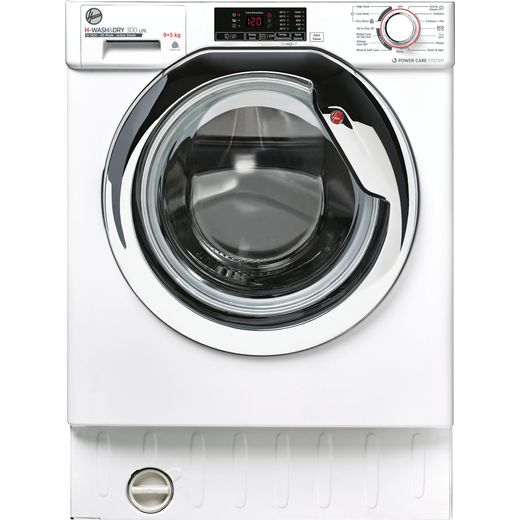 Hoover H-WASH&DRY 300 LITE HBDS495D1ACE Integrated 9Kg / 5Kg Washer Dryer with 1400 rpm - White - E Rated