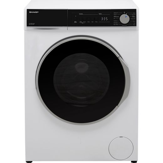 Sharp ES-NFB814AWC-EN 8Kg Washing Machine with 1400 rpm - White - C Rated