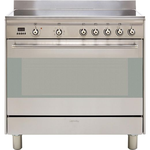 Smeg Concert SUK91CMX9 90cm Electric Range Cooker with Ceramic Hob - Stainless Steel - A Rated