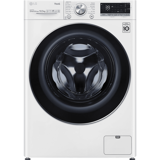 LG V9 F6V910WTSA Wifi Connected 10.5Kg Washing Machine with 1600 rpm - White - A Rated