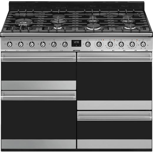 Smeg Symphony SYD4110-1 Dual Fuel Range Cooker - Stainless Steel - A/A Rated