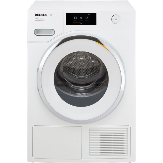 Miele T1 WhiteEdition TWR860WP Wifi Connected 9Kg Heat Pump Tumble Dryer - White - A+++ Rated
