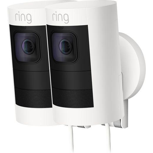 Ring Spotlight Cam Wired Network Surveillance Cam Full HD 1080p - White