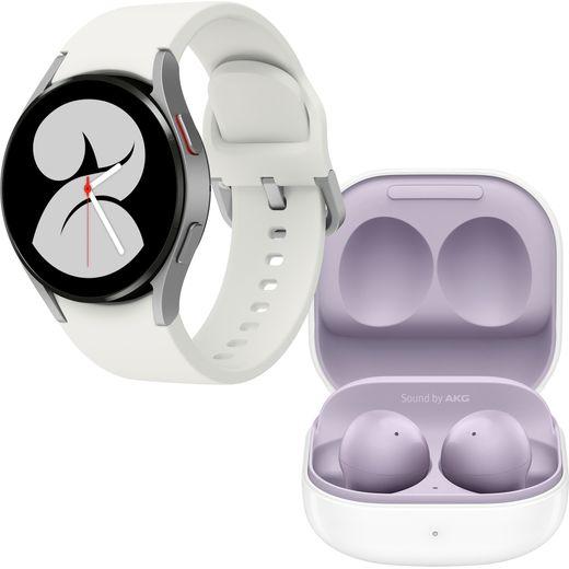 Samsung Galaxy Watch4 + Buds2 Bundle, GPS - 40mm - Silver