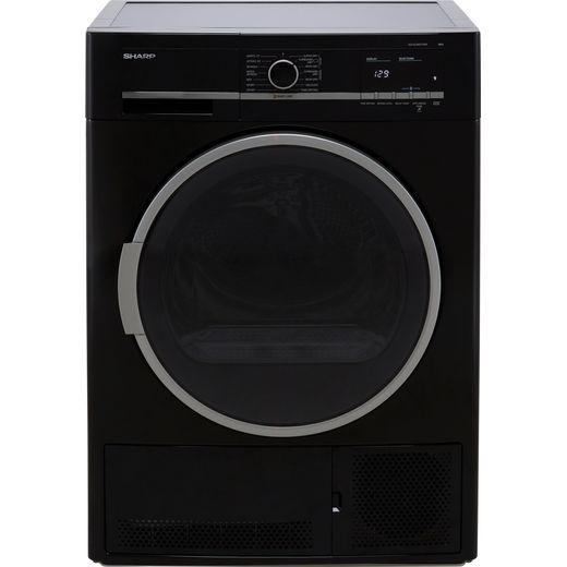 Sharp KD-GCB8S7GB9-EN 8Kg Condenser Tumble Dryer - Black - B Rated