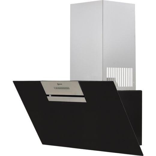 NEFF N30 D85IEE1S0B 80 cm Angled Chimney Cooker Hood - Black - B Rated