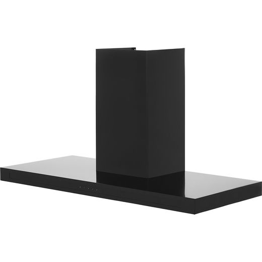 Rangemaster Hi-Lite Flat HLTHDS110BL 110 cm Chimney Cooker Hood - Black - B Rated