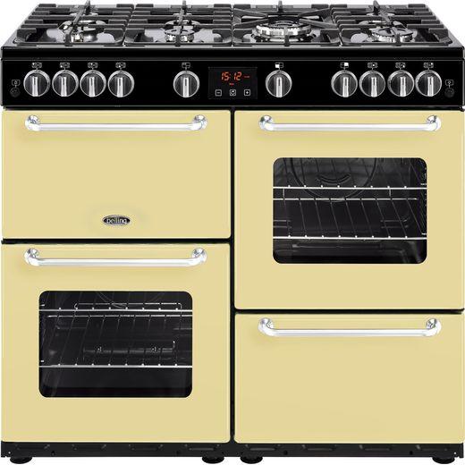 Belling SANDRINGHAM100G 100cm Gas Range Cooker - Cream - A/A Rated
