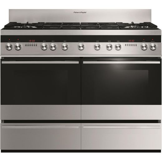 Fisher & Paykel Designer OR120DDWGX2 120cm Dual Fuel Range Cooker - Stainless Steel - A/A Rated