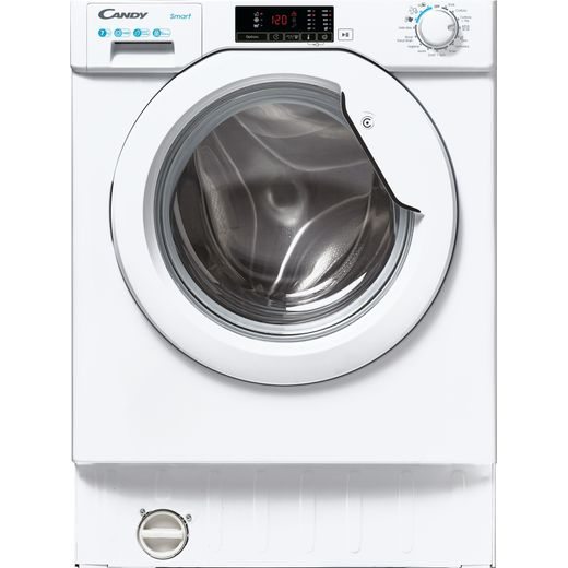 Candy CBW47D1E Integrated 7Kg Washing Machine with 1400 rpm - White - D Rated