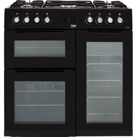 Beko KDVF90K 90cm Dual Fuel Range Cooker - Black - A/A Rated