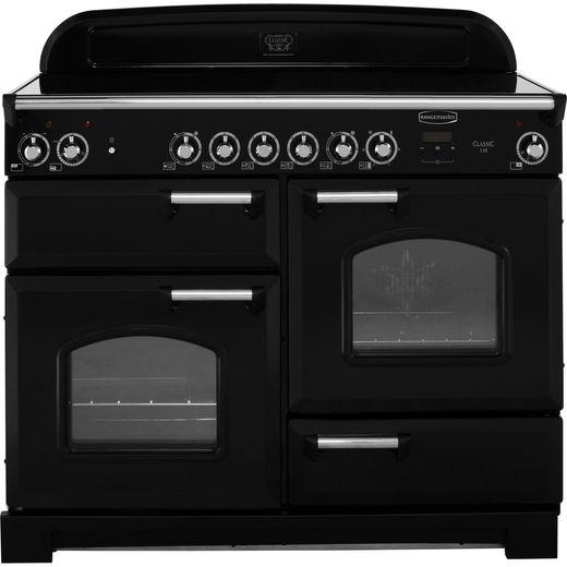 Rangemaster Classic CLA110ECBL/C 110cm Electric Range Cooker with Ceramic Hob - Black / Chrome - A/A Rated