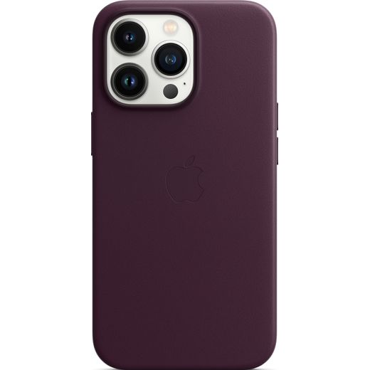 Apple Leather Case with Magsafe for iPhone 13 Pro - Dark Cherry