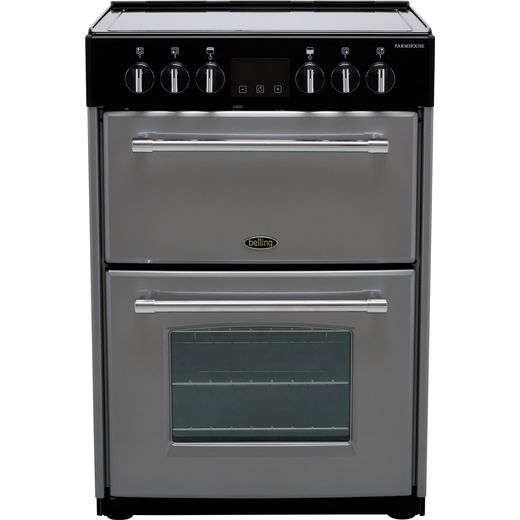 Belling Farmhouse60E Electric Cooker - Silver - Needs 10.6KW Electrical Connection