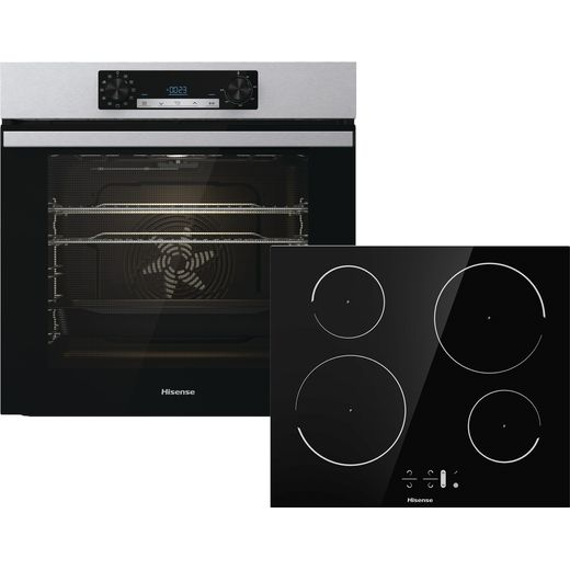 Hisense BI6062IXUK Built In Electric Single Oven and Induction Hob Pack - Stainless Steel - A Rated
