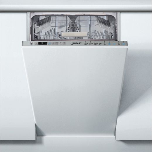 Indesit DSIO3T224EZUKN Built In Slimline Dishwasher - Silver