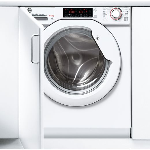 Hoover H-WASH&DRY 300 PRO HBDOS695TME Wifi Connected Integrated 9Kg / 5Kg Washer Dryer with 1600 rpm - White - E Rated