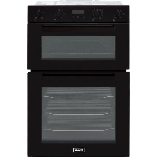 Stoves ST BI902MFCT Built In Electric Double Oven - Black - A/A Rated