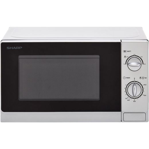 Sharp R20DSLM 20 Litre Microwave - Silver