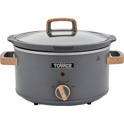 Tower Scandi T16034GRY 3.5 Litre Slow Cooker - Stainless Steel