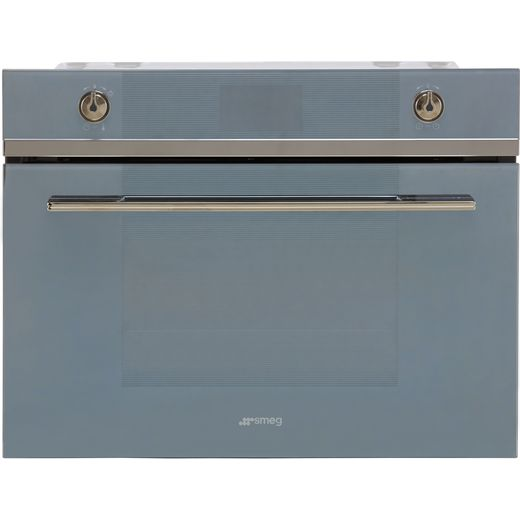 Smeg Linea SF4102MCS Built In Microwave With Grill - Silver