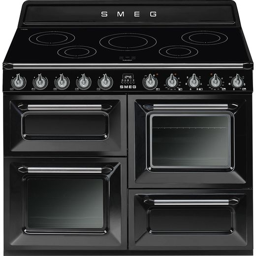 Smeg Victoria TR4110IBL 110cm Electric Range Cooker with Induction Hob - Black - A/A Rated