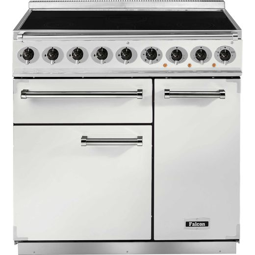 Falcon 900 DELUXE F900DXEIWH/N 100cm Electric Range Cooker with Induction Hob - White - A/A Rated
