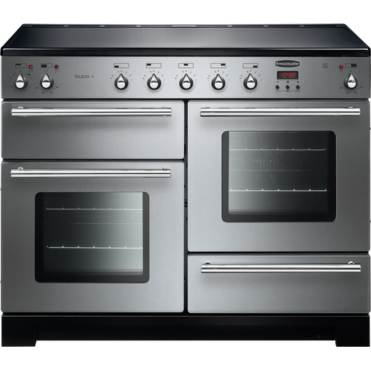 Rangemaster Toledo + TOLP110EISS/C 110cm Electric Range Cooker with Induction Hob - Stainless Steel - A/A Rated