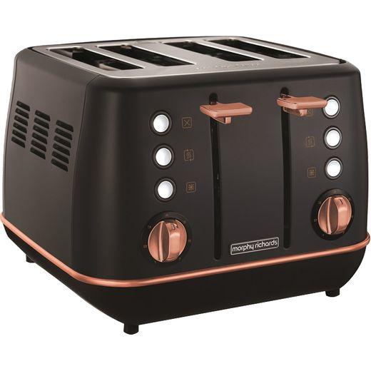 Morphy Richards Evoke Special Edition 240114 4 Slice Toaster - Black / Rose Gold