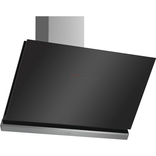Bosch Serie 8 DWK98PR60B Wifi Connected 89 cm Angled Chimney Cooker Hood - Black - A+ Rated