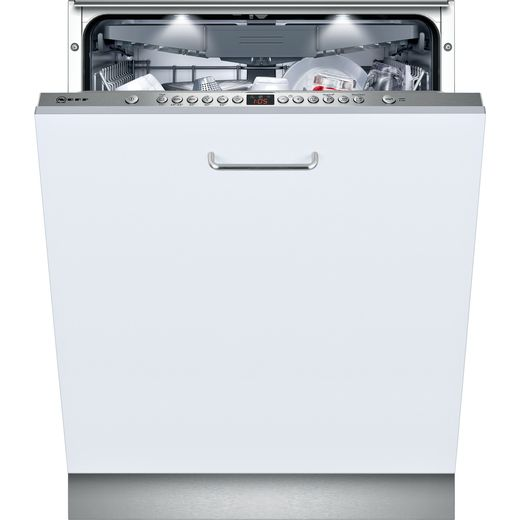 NEFF N50 S513N60X1G Fully Integrated Standard Dishwasher - Stainless Steel Control Panel with Fixed Door Fixing Kit - E Rated