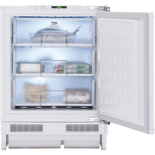 Beko BSFF3682 Integrated Under Counter Freezer with Fixed Door Fixing Kit - F Rated