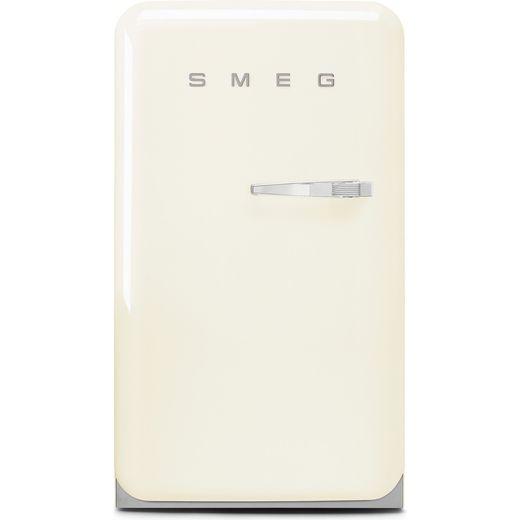 Smeg Left Hand Hinge FAB10LCR5 Fridge with Ice Box - Cream - E Rated
