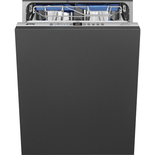Smeg DI323BL Fully Integrated Standard Dishwasher - Black Control Panel with Fixed Door Fixing Kit - B Rated