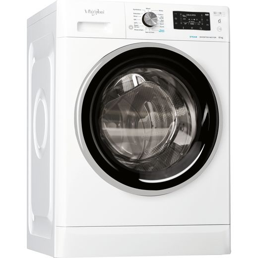 Whirlpool FFD8448BSVUK 8Kg Washing Machine with 1400 rpm - White - C Rated