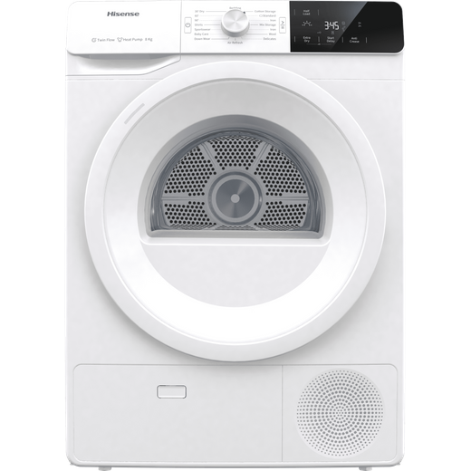 Hisense DHGE8013 8Kg Heat Pump Tumble Dryer - White - A+++ Rated