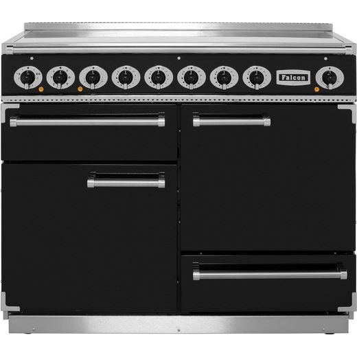 Falcon 1092 DELUXE F1092DXEIBL/C 110cm Electric Range Cooker with Induction Hob - Black - A/A Rated