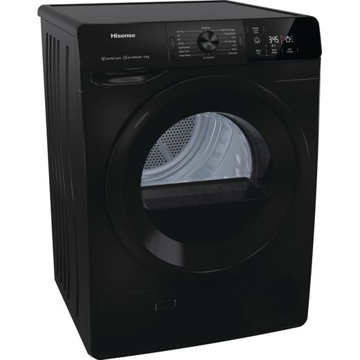 Hisense DCGE802B 8Kg Condenser Tumble Dryer - Black - B Rated