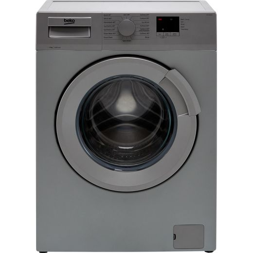 Beko WTL64051S 6Kg Washing Machine with 1400 rpm - Silver - D Rated