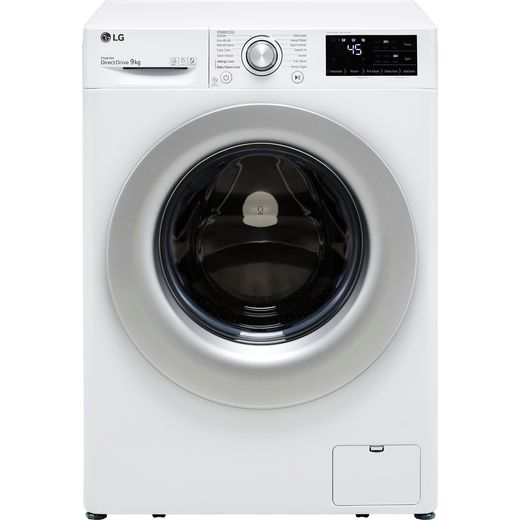 LG V3 F4V309WSE 9Kg Washing Machine with 1400 rpm - White - B Rated