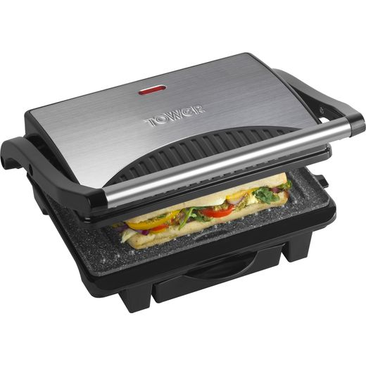 Tower Ceramic Health Grill & Griddle T27009 4 Portions - Black