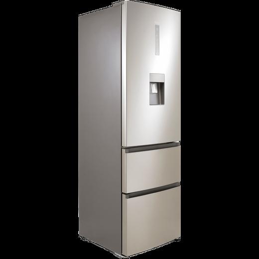 Haier HTR3619FWMP 60/40 Frost Free Fridge Freezer - Platinum Inox - F Rated