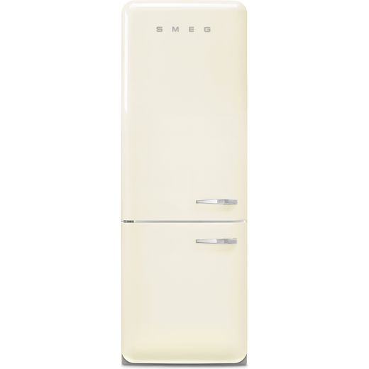 Smeg Left Hand Hinge FAB38LCR5 70/30 Frost Free Fridge Freezer - Cream - E Rated