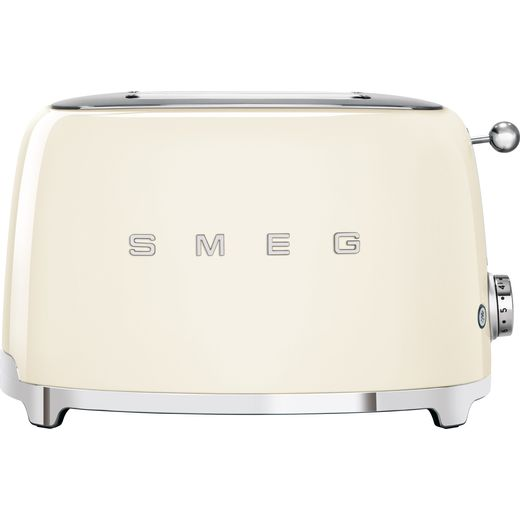 Smeg 50's Retro TSF01CRUK 2 Slice Toaster - Cream