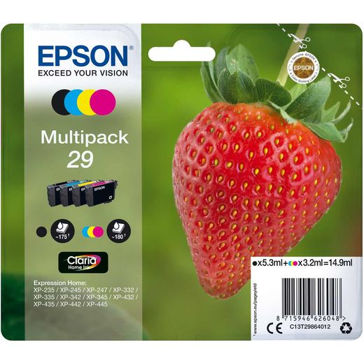 Epson Strawberry Multipack 4-colours 29 Claria Home Ink Cartridge