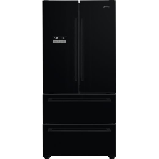 Smeg FQ55FNDF American Fridge Freezer - Black - F Rated