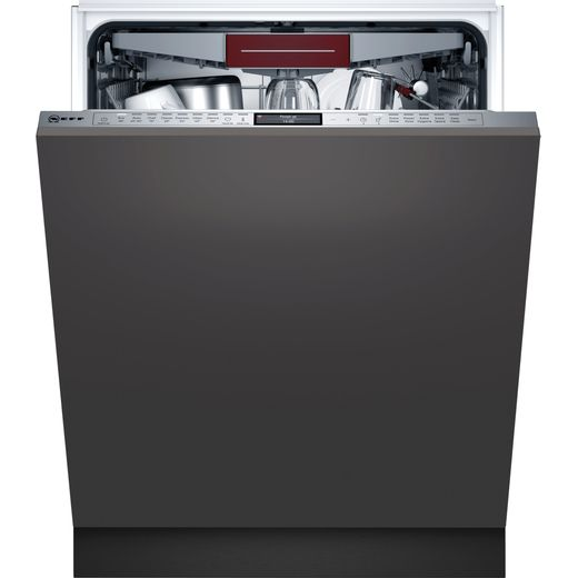 NEFF N90 S189YCX01E Wifi Connected Fully Integrated Standard Dishwasher - Stainless Steel Control Panel - B Rated